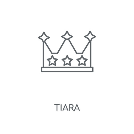 Tiara linear icon. Tiara concept stroke symbol design. Thin graphic elements vector illustration, outline pattern on a white background, eps 10.