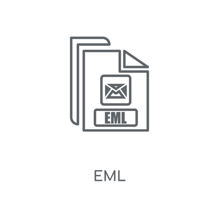 Eml linear icon. Eml concept stroke symbol design. Thin graphic elements vector illustration, outline pattern on a white background, eps 10.