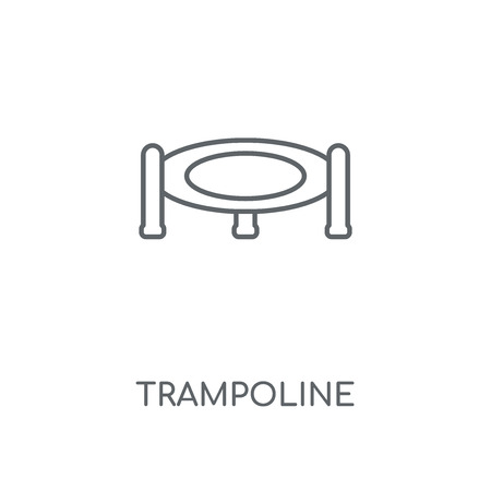 Trampoline linear icon. Trampoline concept stroke symbol design. Thin graphic elements vector illustration, outline pattern on a white background, eps 10.
