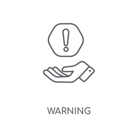 Warning linear icon. Warning concept stroke symbol design. Thin graphic elements vector illustration, outline pattern on a white background, eps 10.