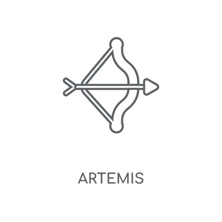 Artemis linear icon. Artemis concept stroke symbol design. Thin graphic elements vector illustration, outline pattern on a white background, eps 10.
