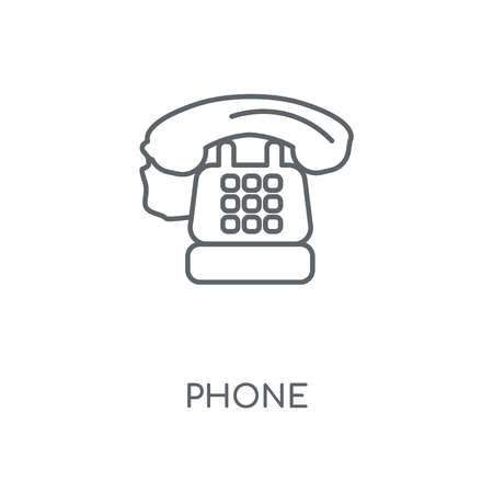 Phone linear icon. Phone concept stroke symbol design. Thin graphic elements vector illustration, outline pattern on a white background, eps 10.