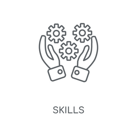 Skills linear icon. Skills concept stroke symbol design. Thin graphic elements vector illustration, outline pattern on a white background, eps 10.