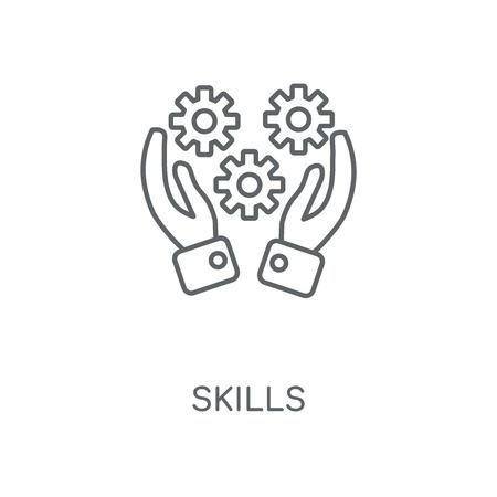 Skills linear icon. Skills concept stroke symbol design. Thin graphic elements vector illustration, outline pattern on a white background, eps 10. Vektorové ilustrace