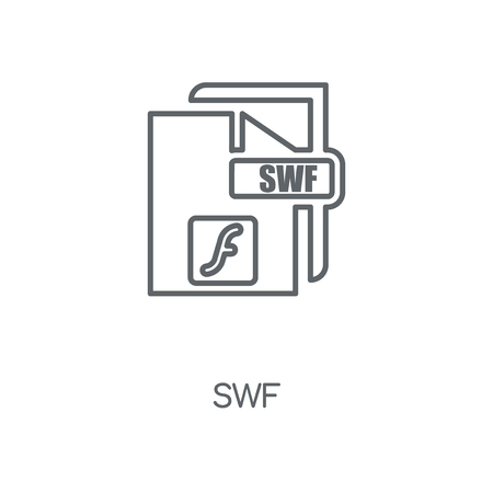 Swf linear icon. Swf concept stroke symbol design. Thin graphic elements vector illustration, outline pattern on a white background, eps 10.
