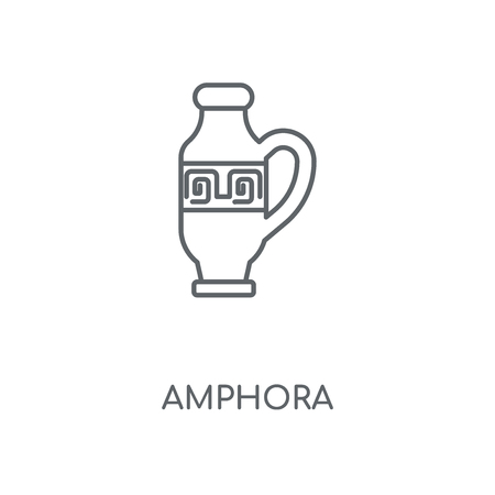Amphora linear icon. Amphora concept stroke symbol design. Thin graphic elements vector illustration, outline pattern on a white background, eps 10.