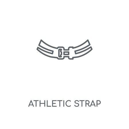 Athletic Strap linear icon. Athletic Strap concept stroke symbol design. Thin graphic elements vector illustration, outline pattern on a white background, eps 10.