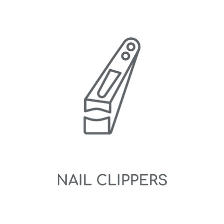 Nail clippers linear icon. Nail clippers concept stroke symbol design. Thin graphic elements vector illustration, outline pattern on a white background, eps 10.