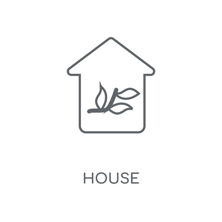Greenhouse linear icon. Greenhouse concept stroke symbol design. Thin graphic elements vector illustration, outline pattern on a white background, eps 10. Stock Illustratie