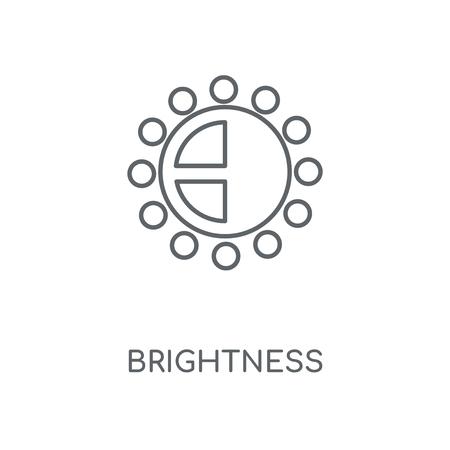 Brightness linear icon. Brightness concept stroke symbol design. Thin graphic elements vector illustration, outline pattern on a white background, eps 10. Vektoros illusztráció