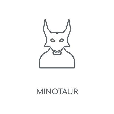 Minotaur linear icon. Minotaur concept stroke symbol design. Thin graphic elements vector illustration, outline pattern on a white background, eps 10.