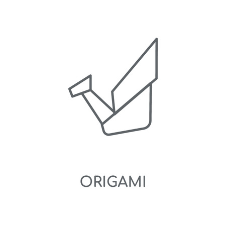 Origami linear icon. Origami concept stroke symbol design. Thin graphic elements vector illustration, outline pattern on a white background, eps 10. Illustration