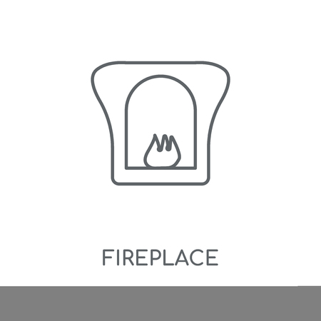 Fireplace linear icon. Fireplace concept stroke symbol design. Thin graphic elements vector illustration, outline pattern on a white background, eps 10.