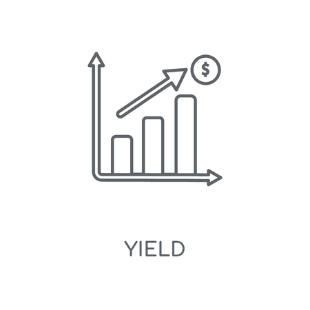 Yield linear icon. Yield concept stroke symbol design. Thin graphic elements vector illustration, outline pattern on a white background, eps 10.