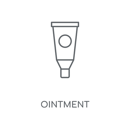 Ointment linear icon. Ointment concept stroke symbol design. Thin graphic elements vector illustration, outline pattern on a white background, eps 10. Çizim