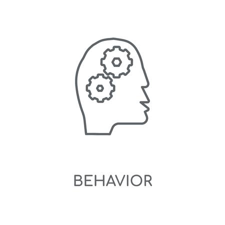 Behavior linear icon. Behavior concept stroke symbol design. Thin graphic elements vector illustration, outline pattern on a white background, eps 10.