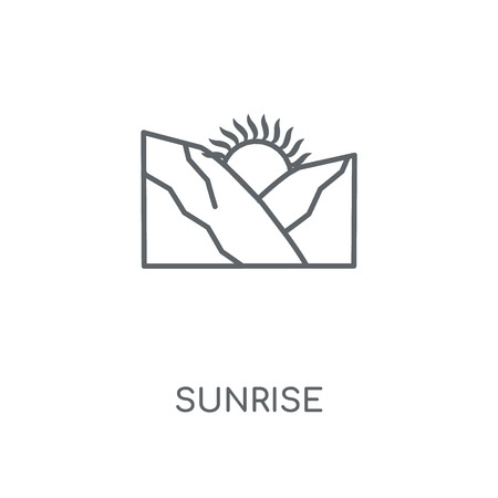 Sunrise linear icon. Sunrise concept stroke symbol design. Thin graphic elements vector illustration, outline pattern on a white background, eps 10. Illustration