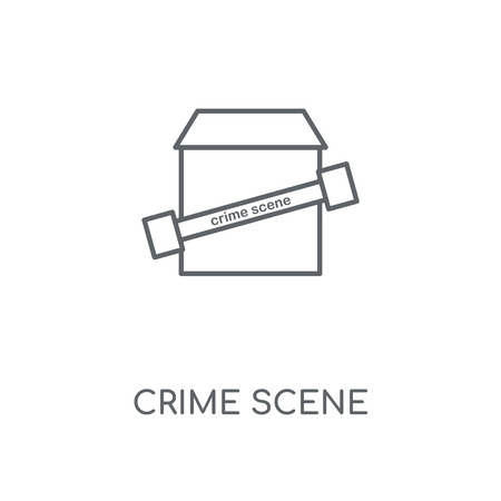 Crime scene linear icon. Crime scene concept stroke symbol design. Thin graphic elements vector illustration, outline pattern on a white background, eps 10.