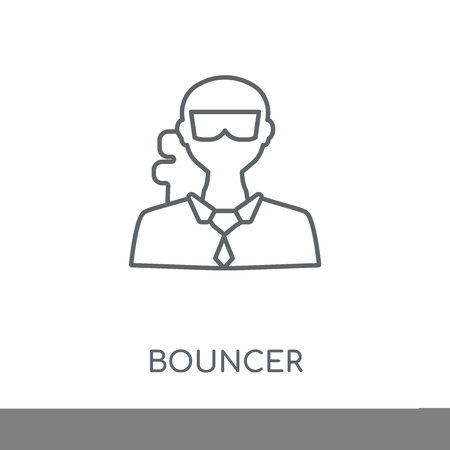 Bouncer linear icon. Bouncer concept stroke symbol design. Thin graphic elements vector illustration, outline pattern on a white background, eps 10.