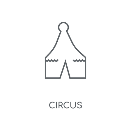 Circus linear icon. Circus concept stroke symbol design. Thin graphic elements vector illustration, outline pattern on a white background, eps 10.