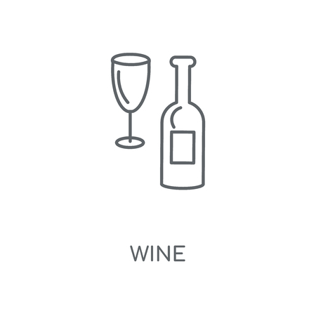 Wine linear icon. Wine concept stroke symbol design. Thin graphic elements vector illustration