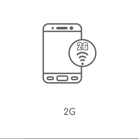 2g linear icon. 2g concept stroke symbol design. Illustration