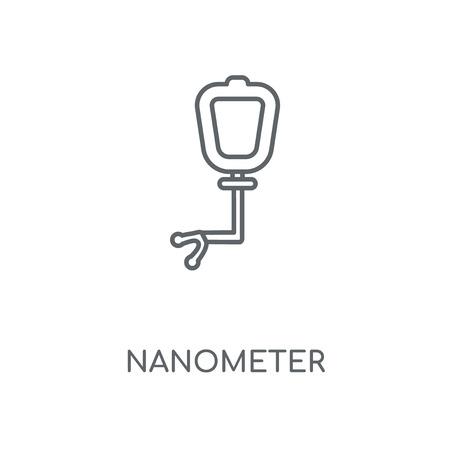 Nanometer linear icon. Nanometer concept stroke symbol design.