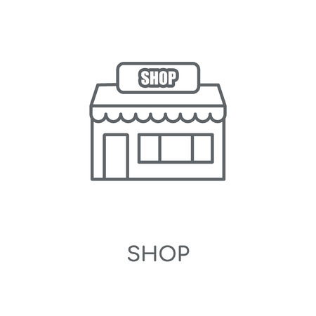 Shop linear icon. Shop concept stroke symbol design. Thin graphic elements vector illustration, outline pattern on a white background 向量圖像