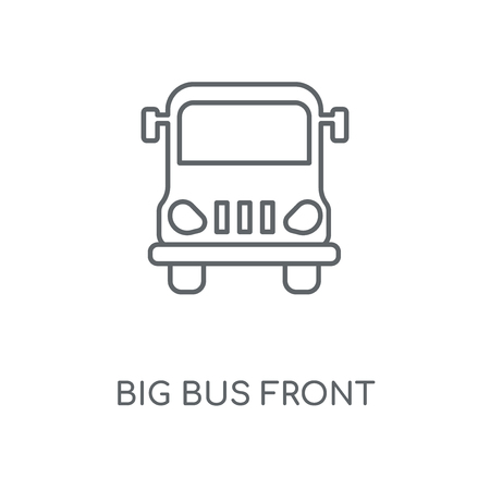 Big Bus front linear icon. Big Bus front concept stroke symbol design. Thin graphic elements vector illustration, outline pattern on a white background
