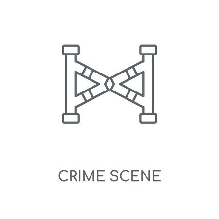 Crime scene linear icon. Crime scene concept stroke symbol design. Thin graphic elements vector illustration, outline pattern on a white background