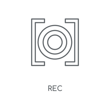 Rec linear icon. Rec concept stroke symbol design. Thin graphic elements vector illustration, outline pattern on a white background, eps 10.