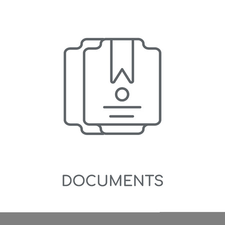 Documents linear icon. Documents concept stroke symbol design. Thin graphic elements vector illustration, outline pattern on a white background, eps 10.