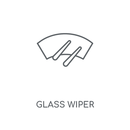 Glass wiper linear icon. Glass wiper concept stroke symbol design. Thin graphic elements vector illustration, outline pattern on a white background Banque d'images - 111704175