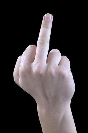 obscene: middle finger, obscene gesture