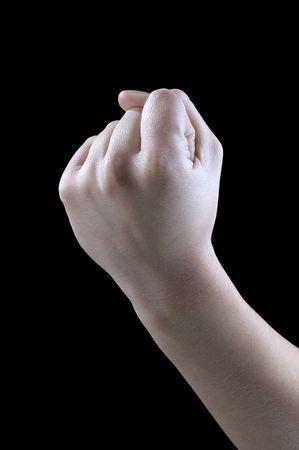 hand gestures, fist, threat Stock Photo - 5954311