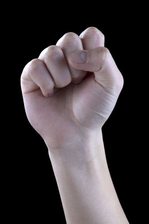 expresses: hand gestures, fist, solidarity Stock Photo