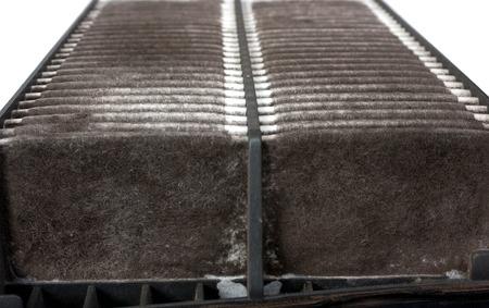 dirty car: old dirty car air filter