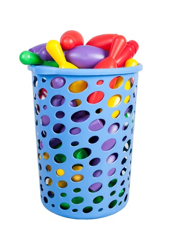 skittles: blue Cart with baby skittles