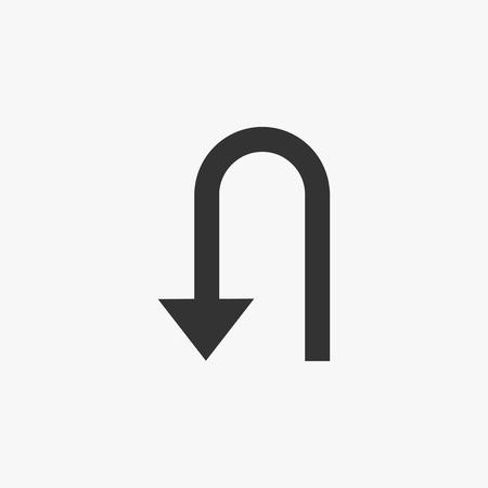 U-Turn icon Ilustrace