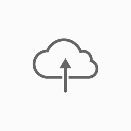 cloud upload icon 矢量图像