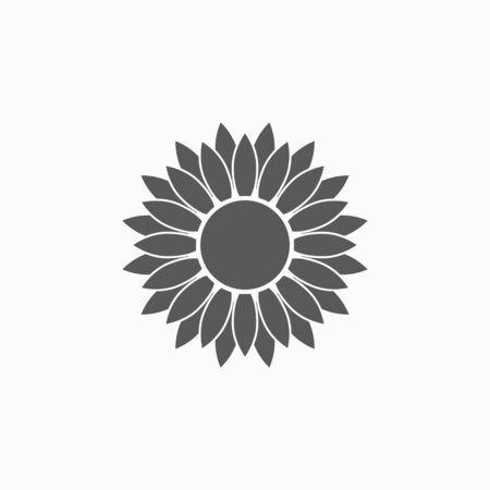 sunflower icon vector illustration