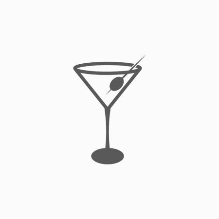 martini glass icon Çizim