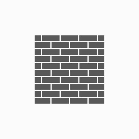 brick wall icon vector illustration