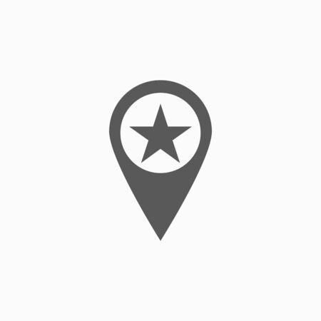 star pin icon 向量圖像