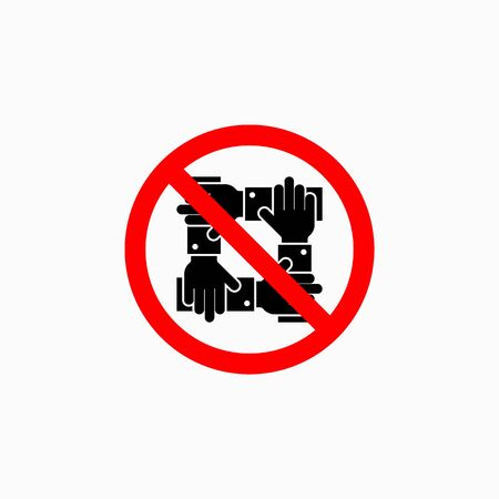 no touch icon, do not touch vector Illustration