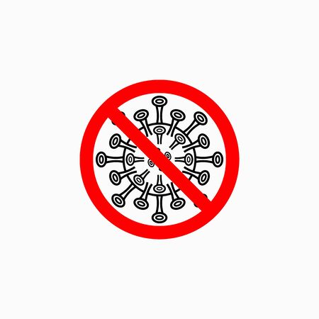 no coronavirus icon, no covid-19 vector, no virus illustration, antibacterial icon