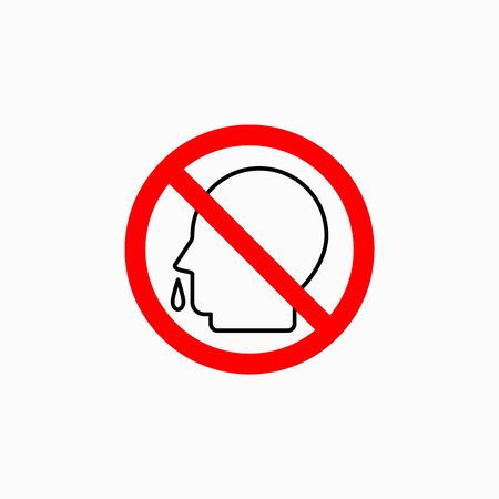 no snot icon, no runny nose vector Illustration