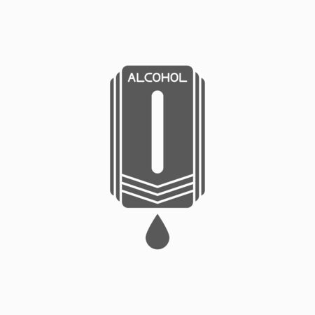 pump hand wash icon, alcohol machine vector, hand sanitizer illustration