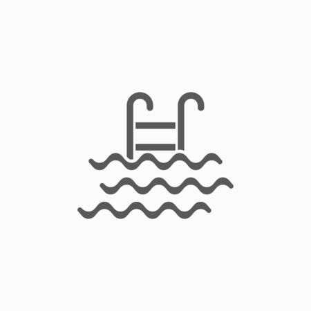 swimming pool icon 向量圖像