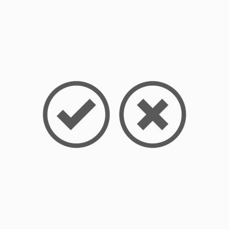 check mark icon Ilustracja